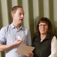 Ortsvereinsvorsitzender Peter Banczyk und Susanne Kunkel ( seit 40 Jahren in der SPD )